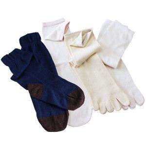 ヒオリエ 冷えとり靴下 シルク&コットン5本指ソックス(重ねばき専用)