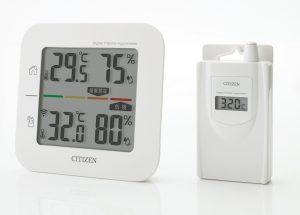シチズン コードレス温湿度計